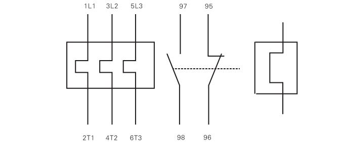 热过载继电器接线图; 天水二一三 jrs4-25dr 热过载继电器产品的资料